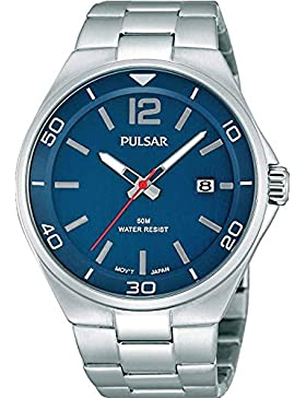 Pulsar Mens-Edelstahl-Marine Uhr PS9325X1