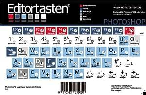Rédacteur Clavier USB Clavier en Aluminium, Blanc (Version) avec Adobe Photoshop raccourcis (commandes, raccourcis allemand)