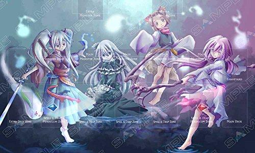 Playmat Ash Blossom, Ghost Ogre, Ghost Reaper, Yashiki Warashi - Ghost Girls - Ideal for Link monsters Yugioh