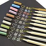 Butterme 10 couleurs métalliques Marqueurs, stylos Papeterie créative marqueur pour carte Making / photo bricolage Album / verre / plastique / Poterie