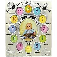 Marco de foto metálico infantil Portafoto de aluminio para bebé, ...