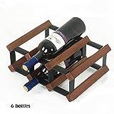 Weinregale Kleiner Weinflaschenständer Für 6 Flaschen - Tischplatte Braunem Arbeitsplattenschrank Freistehend, Eichenholz
