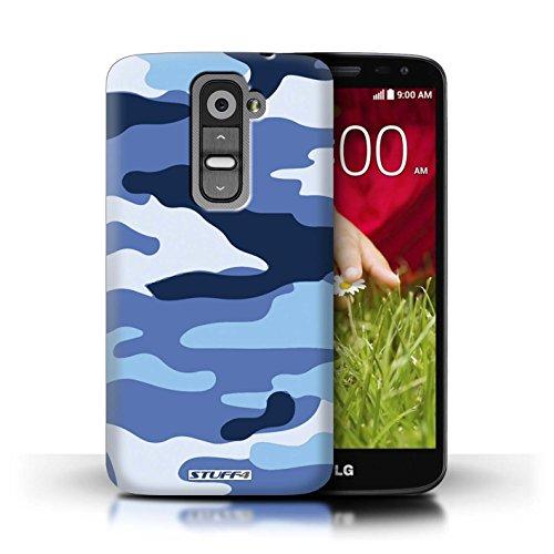Kobalt® Imprimé Etui / Coque pour LG G2 Mini/D620 / Bleue 3 conception / Série Armée/Camouflage Bleue 2