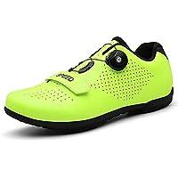 WYUKN Mens Cycling Shoes Unisex Lock-Free Bike Shoes Indoor Cycling Shoes Outdoor Cycle Shoes,Green-39EU