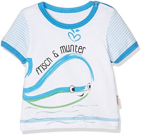Adelheid Unisex Baby T-Shirt Frisch & munter Bio Leibchen k. A. Albglück, Weiß (Blütenweiss 100), 50 (Herstellergröße:50/56) (Glücks Bio-baumwoll-t-shirt)