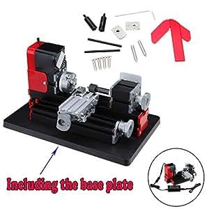 ridgeyard 24w metall drehmaschine holzverarbeitung metallbearbeitung teaching diy werkzeug. Black Bedroom Furniture Sets. Home Design Ideas