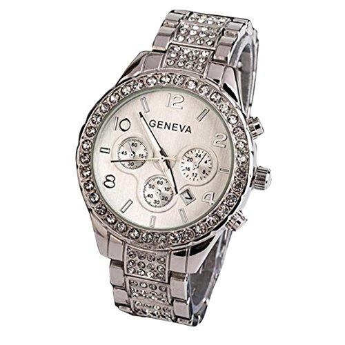 Xinantime Elegante Orologio al Quarzo Diamante Impermeabile Colore Argento Donna