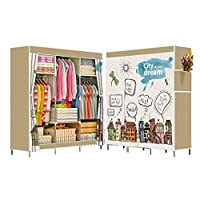 Portable Wardrobe Organizer Side Curtain Cover With 3d Print