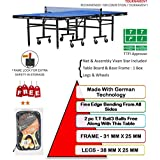 [Sponsored]TOURNAMENT VIXEN Full Size Table Tennis Table, Made With German Technology, Approved By TTFI (Free 2 TT Racket & 3 Balls)