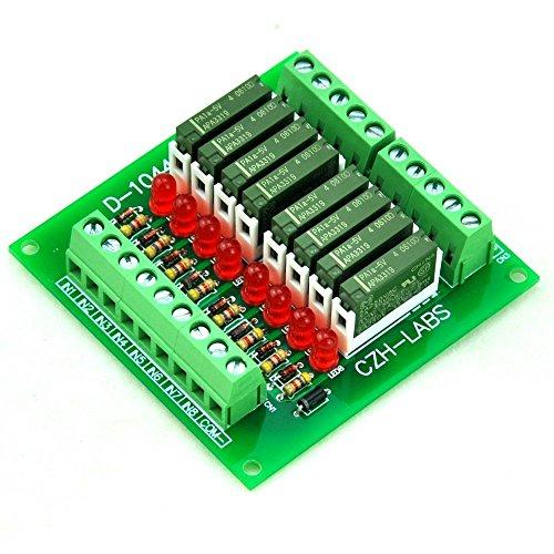 electronics-salon-modulo-rele-slim-montaggio-a-pannello-dc5v-fonte-pnp-8-spst-no-5a-potere-pa1a-5v