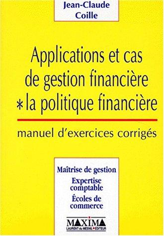 APPLICATION CAS GEST FINANCIER par JEAN-CLAUDE COILLE