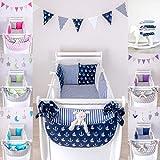 LOOLAY 6 Tlg Baby Nestchen Bettumrandung 210cm Bettnestchen Kopfschutz Kantenschutz für Babybett (D10)