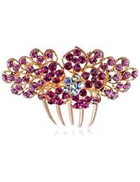 Sparkle o cama de matrimonio rosas y rosa claro de boda accesorios para el pelo peine diseño de flores HA163