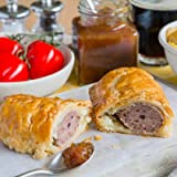 The Real Pie Company - Pork & Black Pudding Sausage Rolls (6 x 180g) - Fresh Baked to Order - Award Winning Premium…