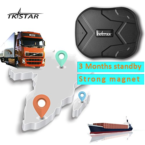 TKSTAR Mini Waterproof Tracking Device with Powerful Magnet Long Standby GPS Tracker Locator for Kids Seniors Pets Cars PS110