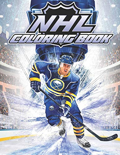 Nhl Coloring Book Famous Players And Team Logos Of National Hockey League