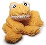 Inware-Rana Freaky, tumbado, Amarillo/Naranja, diferentes tamaños, peluche,-Peluche,