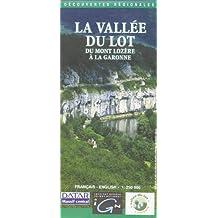 Carte routière : Vallée du Lot