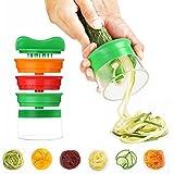 Hand-Held Spiralizer, 3-Blade Grips Slicer Cortador Espiral Rallador Creación de fideos vegetales Cocina herramientas de cocina