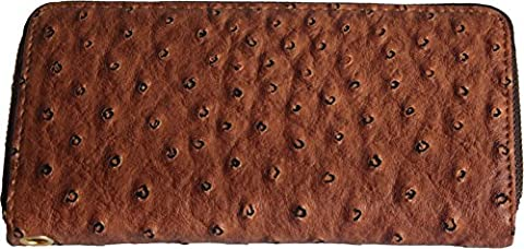 H&G Ladies Large Designer Ostrich Skin Effect Purse \ Wallet