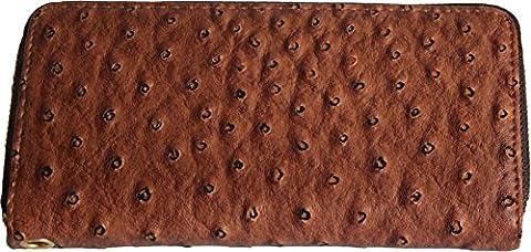 H&G Ladies Large Designer Ostrich Skin Effect Purse \ Wallet