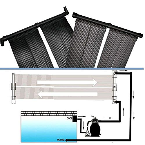 SISHUINIANHUA Solar Pool Heater Warmwassermatte Sun Heating Kit Sonnenkollektor Kit wärmer