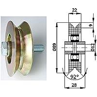 Zabi fahrbahnrollen metallrollen per l del profilo (angolo) D = 89mm, ruote