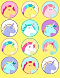 Unicorn Sticker Album For Girls: 100 Plus Pages For PERMANENT Sticker Collection, Activity Book For Girls, Yellow - 8.5 by 11: Volume 19