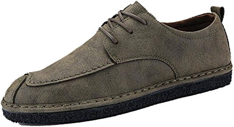 ZPFDY Hombres Four Seasons British Fashion Business Casual Cordones Jóvenes Zapatos De Cuero -