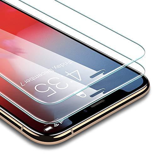 ESR Protector Pantalla iPhone XS/X [2 Piezas] [Kit
