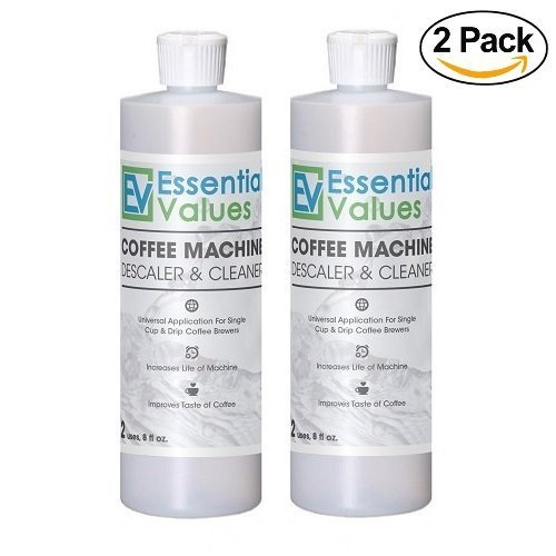 DeLonghi Descaler (2 Pack), Universal Descaling Solution for De'longhi, Keurig, Saeco, Bosch, Tossimo, Nespresso Descaling and All Single Use, Coffee Pot & Espresso Machines Stainless Steel Look 2 Pack Test