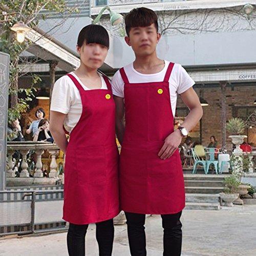 grembiule/Lavoro grembiule senza maniche vestiti per uomini e donne-F