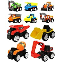 FunBlast Pull Back Vehicles Toy Cars Playset | Construction Mini Power Friction Trucks for 3+ Years Old Boys|Girls. (Set…