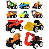 FunBlast Pull Back Vehicles Toy Cars Playset | Construction Mini Power Friction Trucks for 3+ Years Old Boys|Girls. (Set of 10)