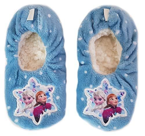 Disney Frozen Hausschuhe Slipper Sneaker Mädchen Kindergarten Schuhe Gr. 25-32 (31/32, blau)