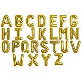 NorthStar - Globos Forma letras Color Oro 86cm (Z/Oro)