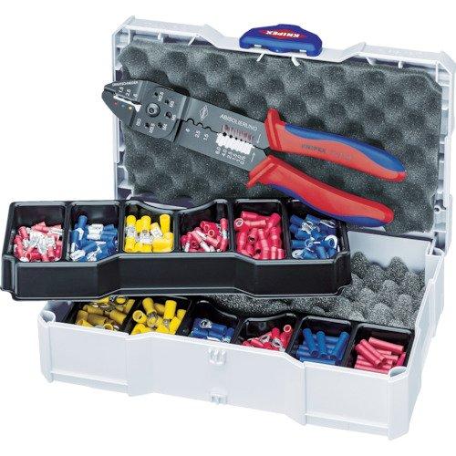 Knipex 90 26 Assortiment de sertissages pour raccords de câble avec pince à sertir 97 32 240, Multicolore