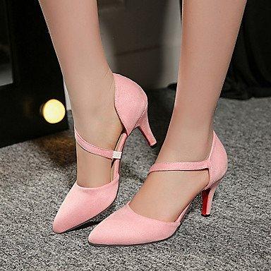 LvYuan Damen-Sandalen-Kleid Lässig Party & Festivität-Vlies-Stöckelabsatz-Andere-Schwarz Rosa Rot Grau Pink