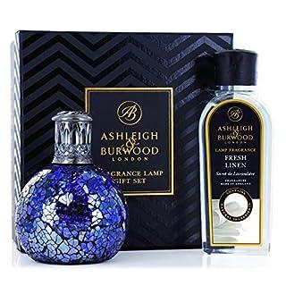 Ashleigh & Burwood - Premium Oil Fragrance Lamp Set - All Because Lamp + Fresh Linen Fragrance