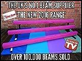 8ft (61cm High) Professionelle Gymnastik Gymnastikball Gym Balance Beam von slim-gym–Hot Pink Faux Wildleder–Top Of The Range, hot pink