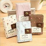 niceeshop(TM) Segeltuch Blume Kreditkarte Tasche mit 20 Klarsichtfächern