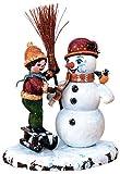 Kleine Figuren & Miniaturen Winterkinder Junge mit Schneemann - 11cm - Hubrig Volkskunst