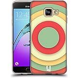 Head Case Designs Cercle Concentrique Art Coloré De Papier Étui Coque en Gel molle pour Samsung Galaxy A3 (2016)