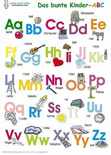 Das bunte Kinder-ABC. Poster: Deutsch