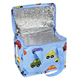 Enlarge toy image: Insulated Childrens Lunch Bag - Blue Cars -  preschool activity for young kids