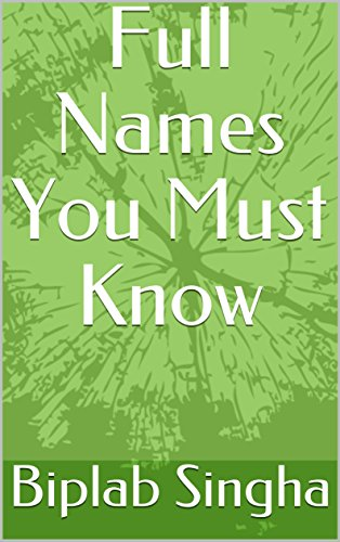 full-names-you-must-know-english-edition