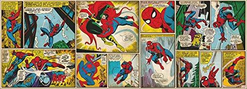 Fototapete SPIDER-MAN COMIC-STRIP 202x73 Marvel Comic-Held Spiderman Superheld