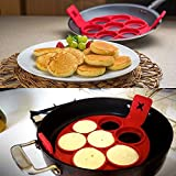 Omelet Egg Fried Pancake Omeletts Maker Form Ringe 100% lebensmittelechtem Silikon Küche Werkzeug Küchenhelfer (1 Stück)