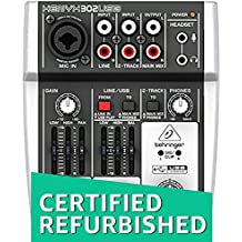 (CERTIFIED REFURBISHED) Behringer 302USB Premium 5-Input Mixer with Mic Preamp and USB/Audio Interface