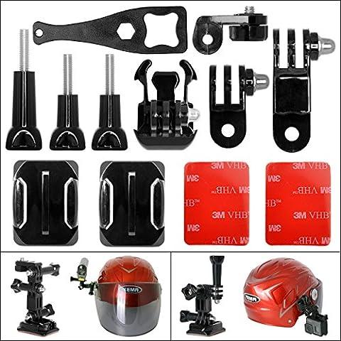 Fantaseal® Action Kamera Helm Halterung Set Actioncam Helmet Side Mount